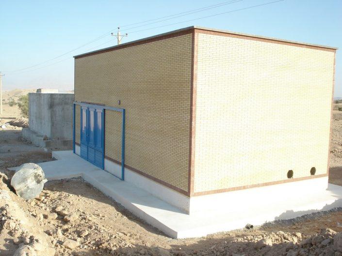 پروژه آبرسانی مجتمع روستایی دادین شهرستان کازرون